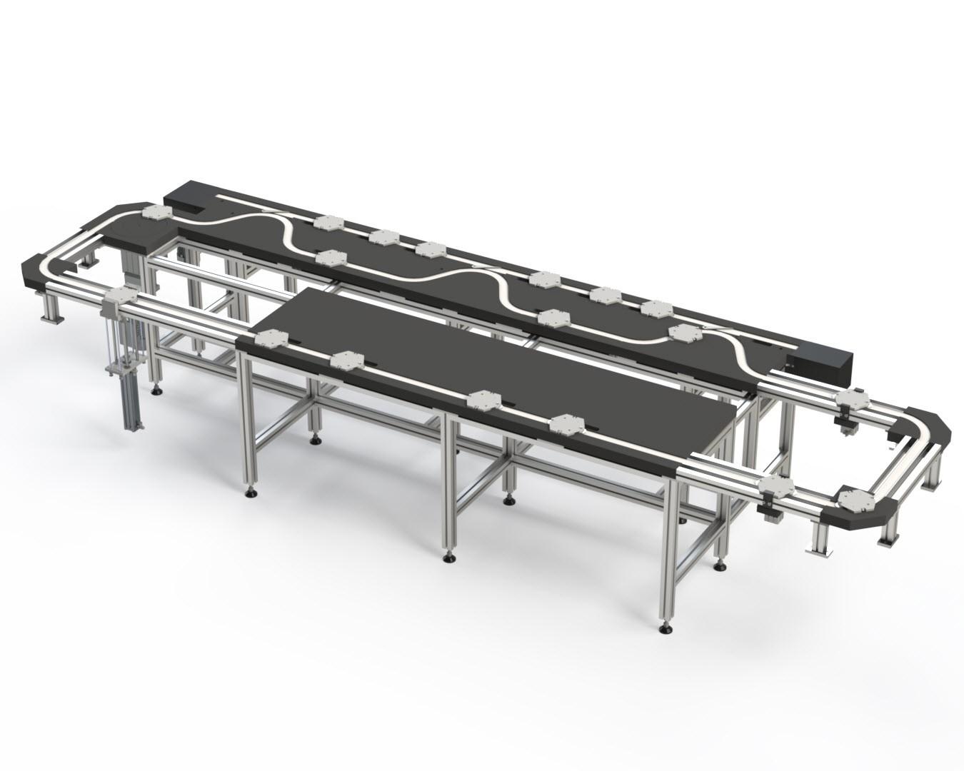 Werkstückträger Kettenumlaufsystem Transportsystem